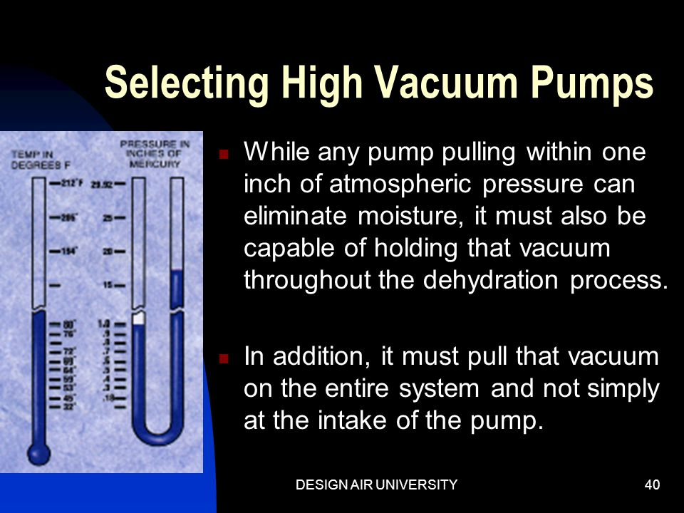 Selecting High Vacuum Pumps