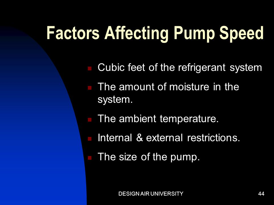 Factors Affecting Pump Speed