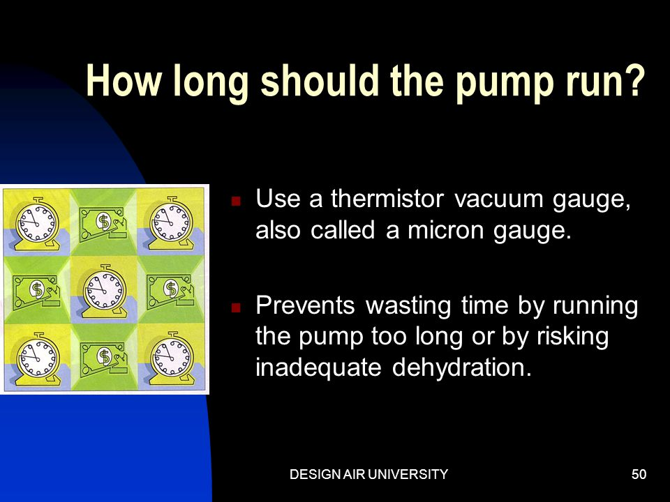 How long should the pump run