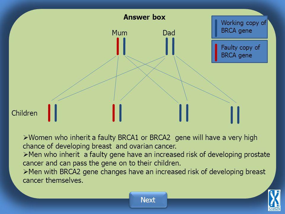 Answer box Mum Dad Children