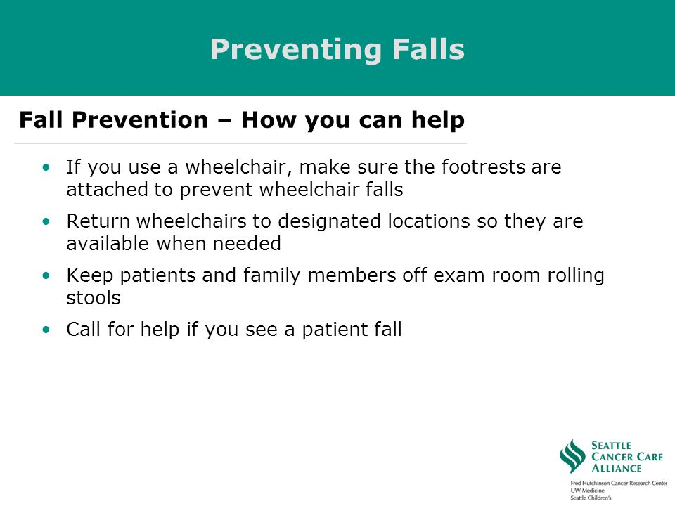 Preventing Falls Fall Prevention – How you can help