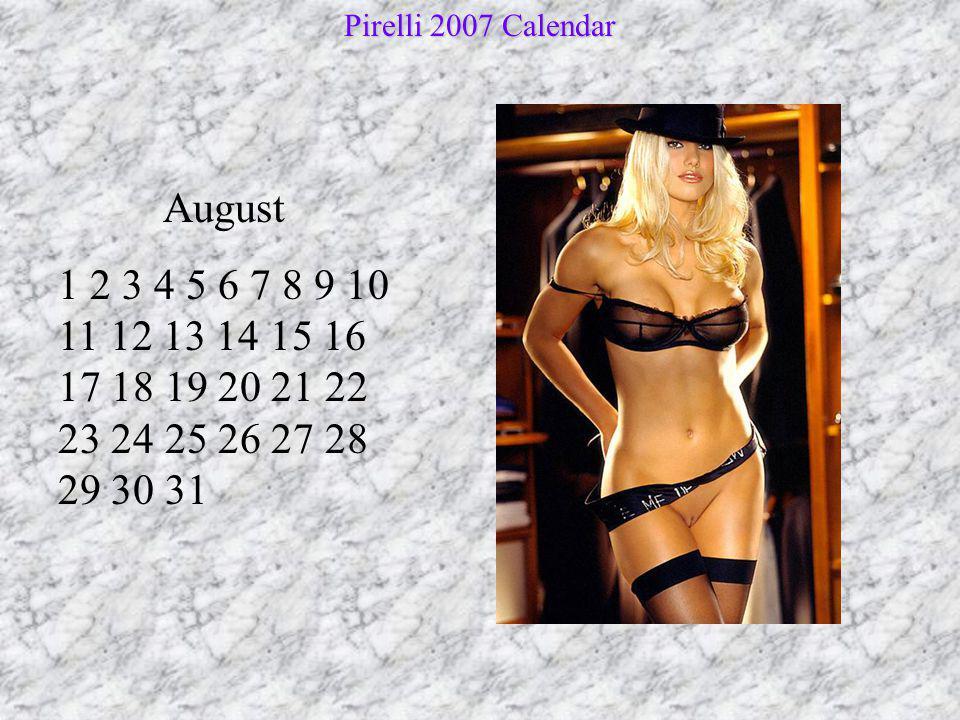 Pirelli 2007 Calendar August.