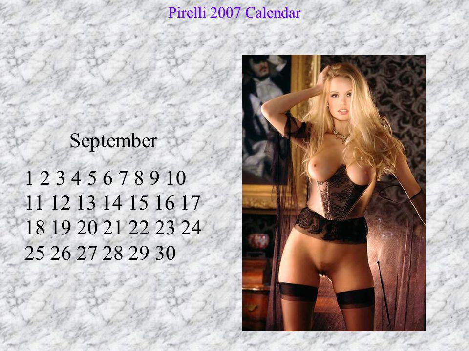 Pirelli 2007 Calendar September.