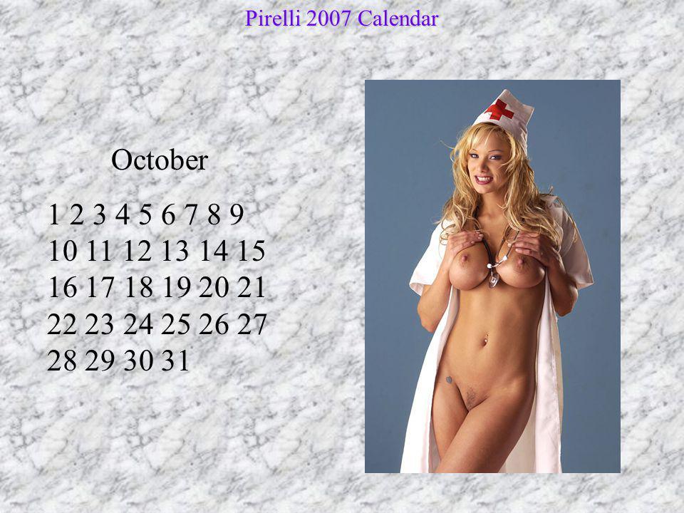 Pirelli 2007 Calendar October.