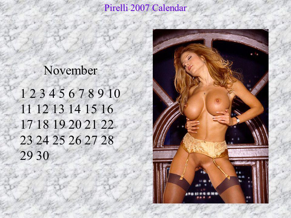 Pirelli 2007 Calendar November.