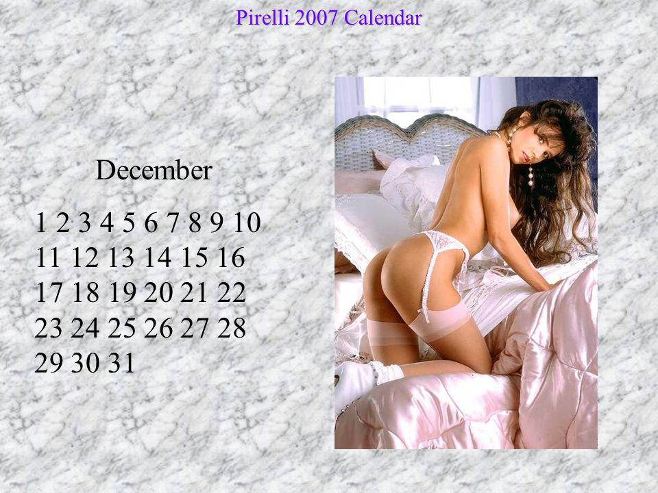Pirelli 2007 Calendar December.