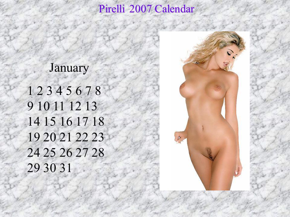 Pirelli 2007 Calendar January.