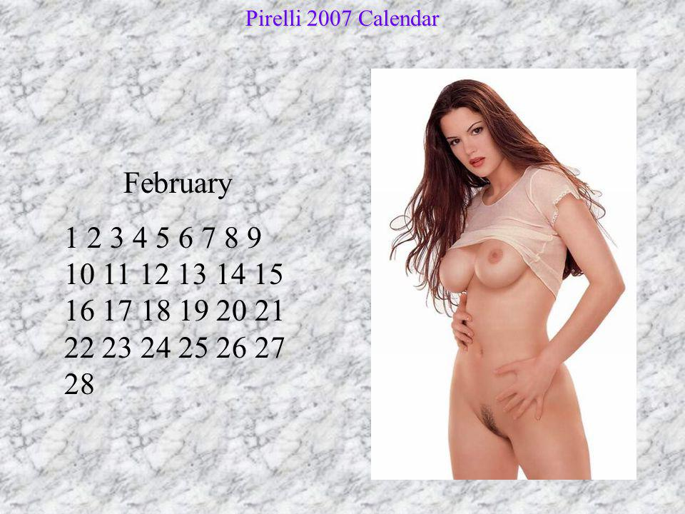 Pirelli 2007 Calendar February.