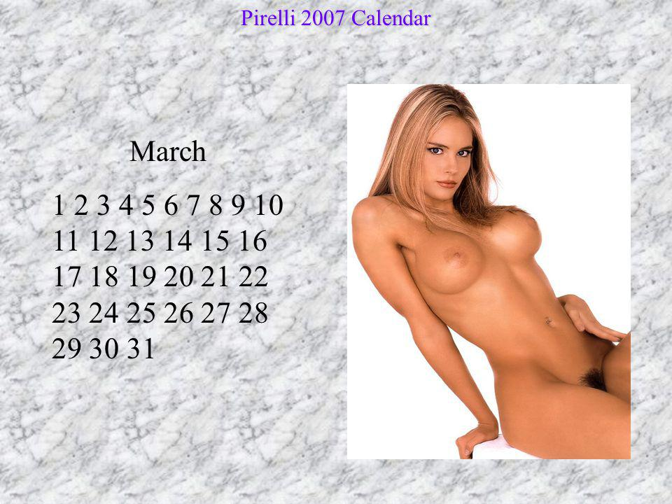 Pirelli 2007 Calendar March.
