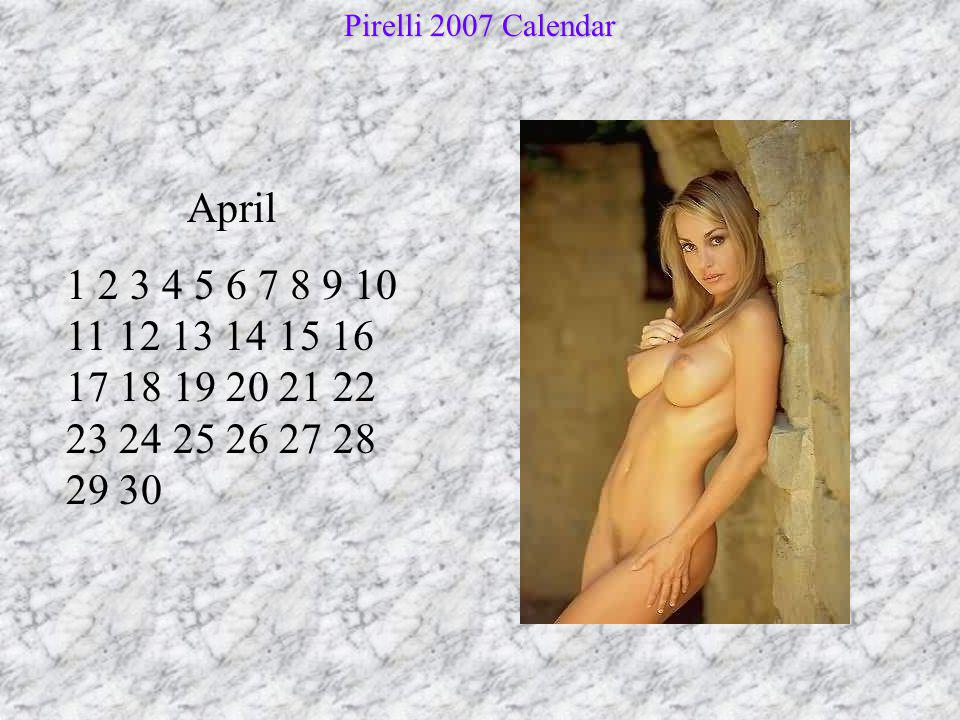 Pirelli 2007 Calendar April.