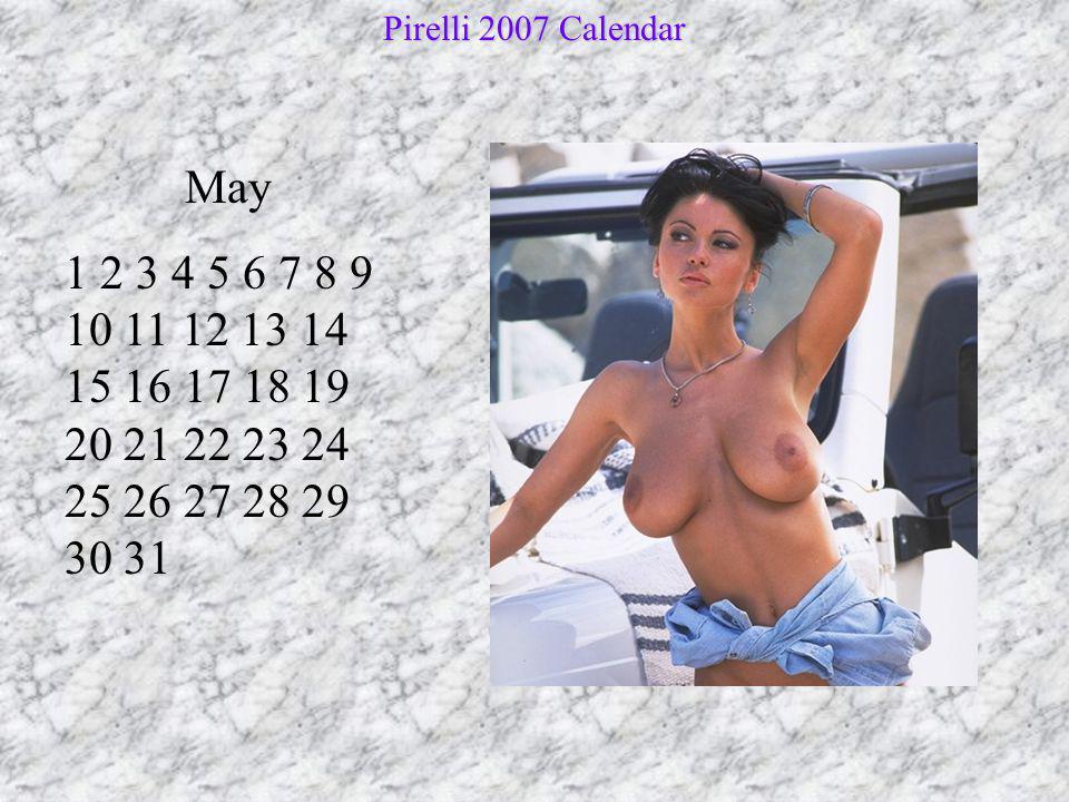 Pirelli 2007 Calendar May.