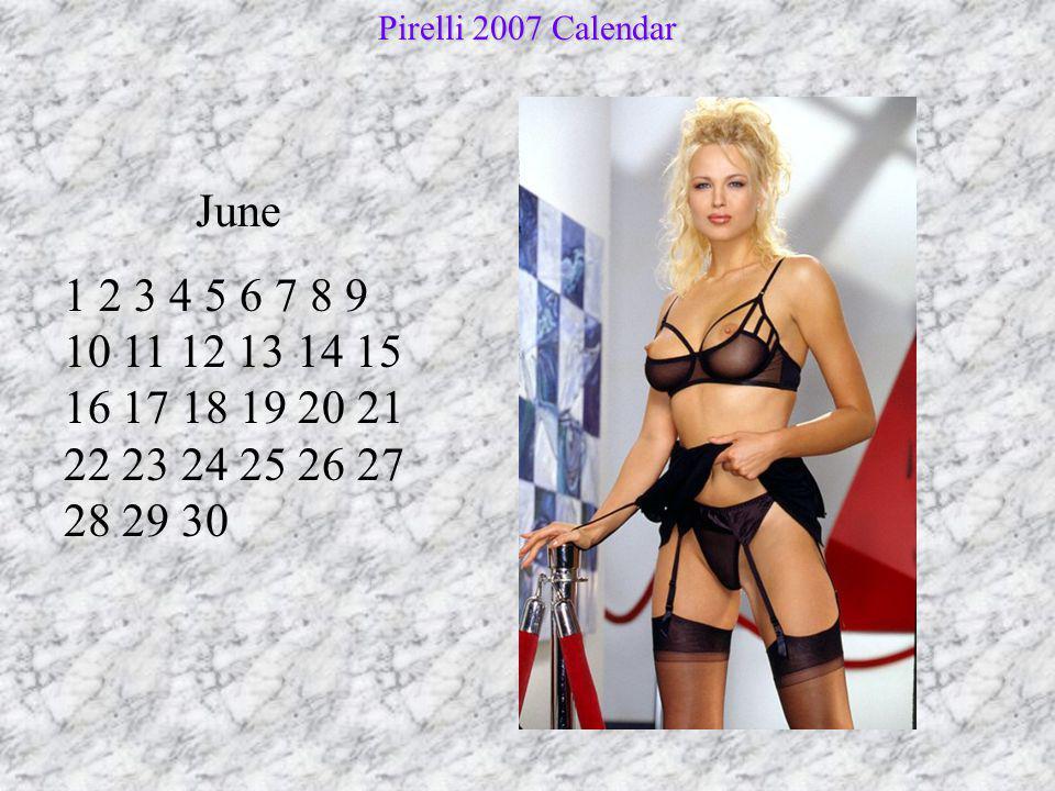 Pirelli 2007 Calendar June.