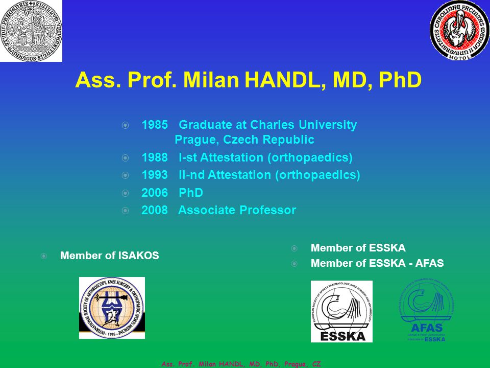 Ass. Prof. Milan HANDL, MD, PhD