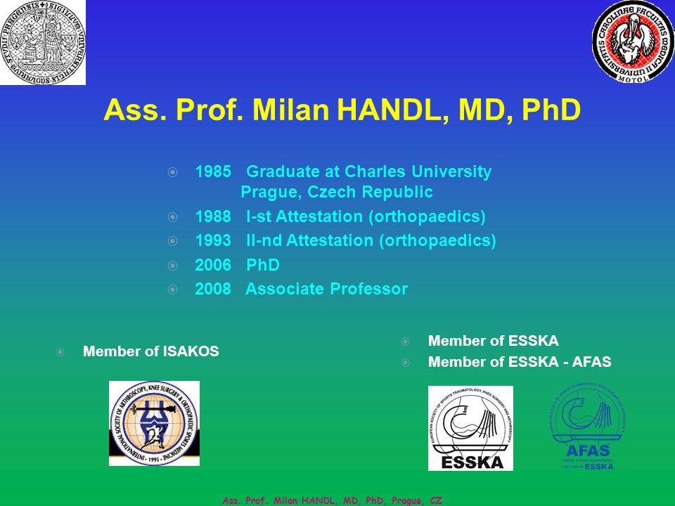 Ass. Prof. Milan HANDL, MD, PhD