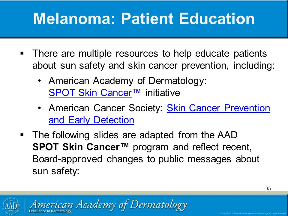 Melanoma: Patient Education