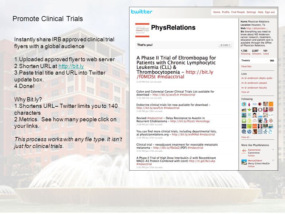 Promote Clinical Trials