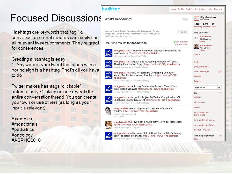 Focused Discussions