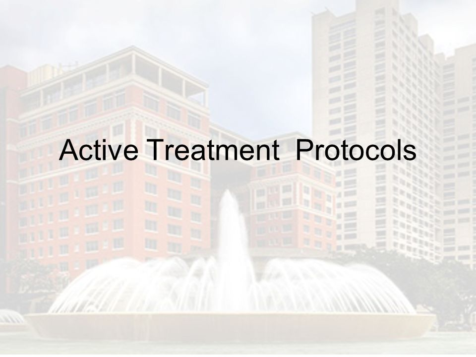 Active Treatment Protocols