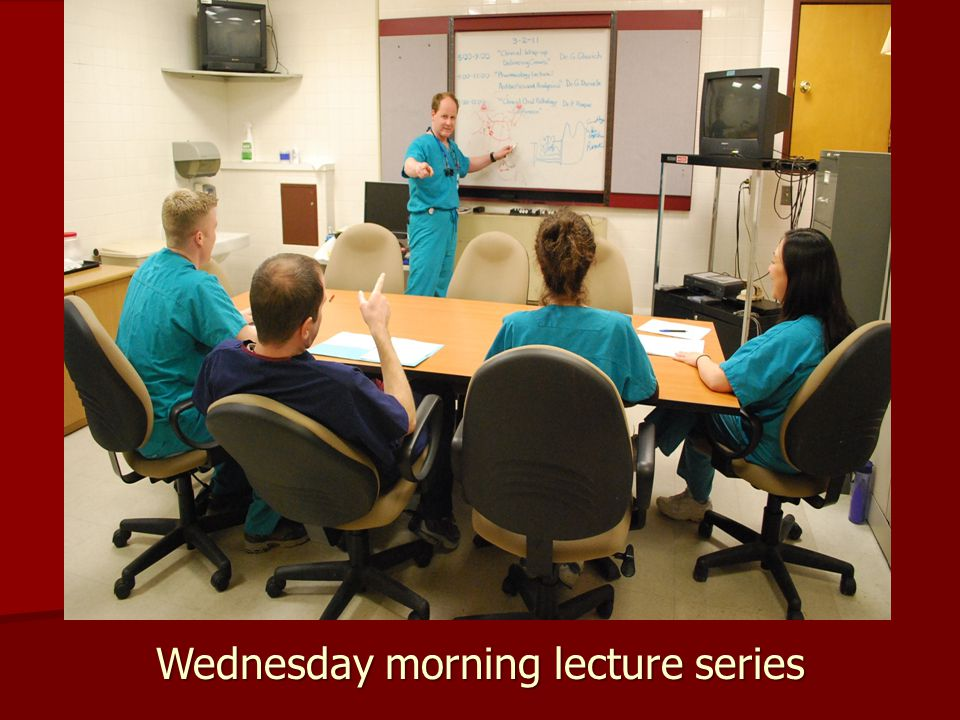 Wednesday morning lecture series