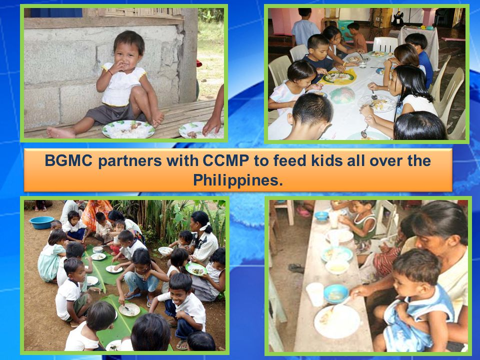 BGMC partners with CCMP to feed kids all over the Philippines.