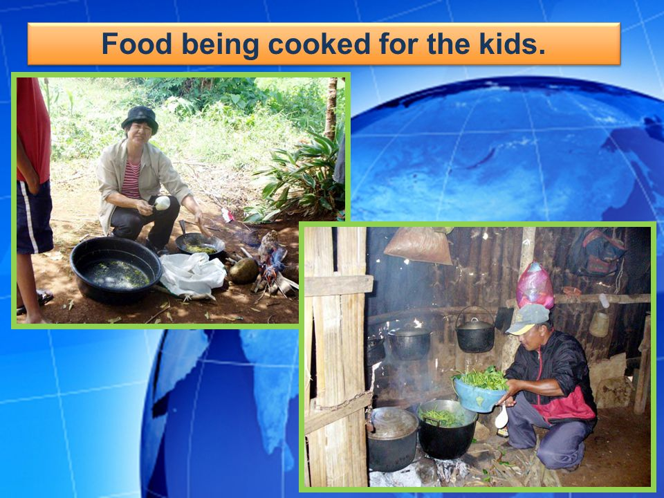 Food being cooked for the kids.
