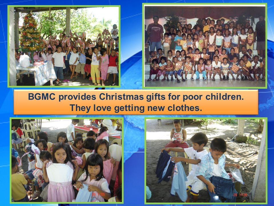 BGMC provides Christmas gifts for poor children