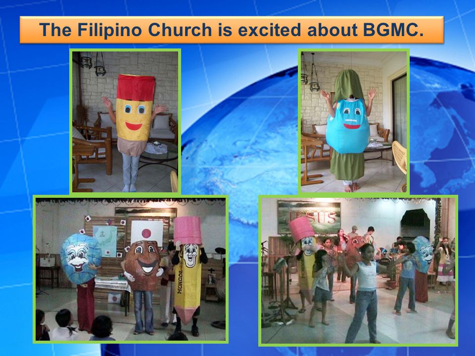 The Filipino Church is excited about BGMC.