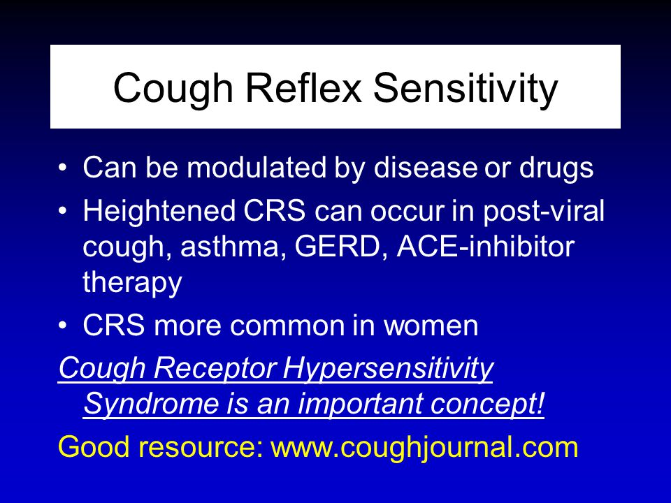 Cough Reflex Sensitivity