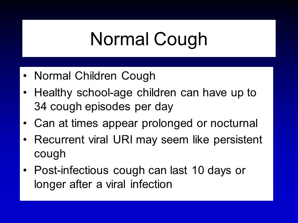 Normal Cough Normal Children Cough