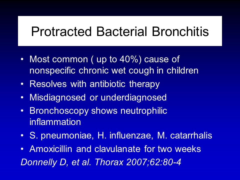Protracted Bacterial Bronchitis