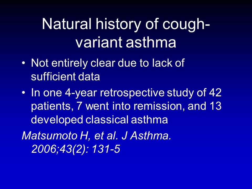 Natural history of cough-variant asthma