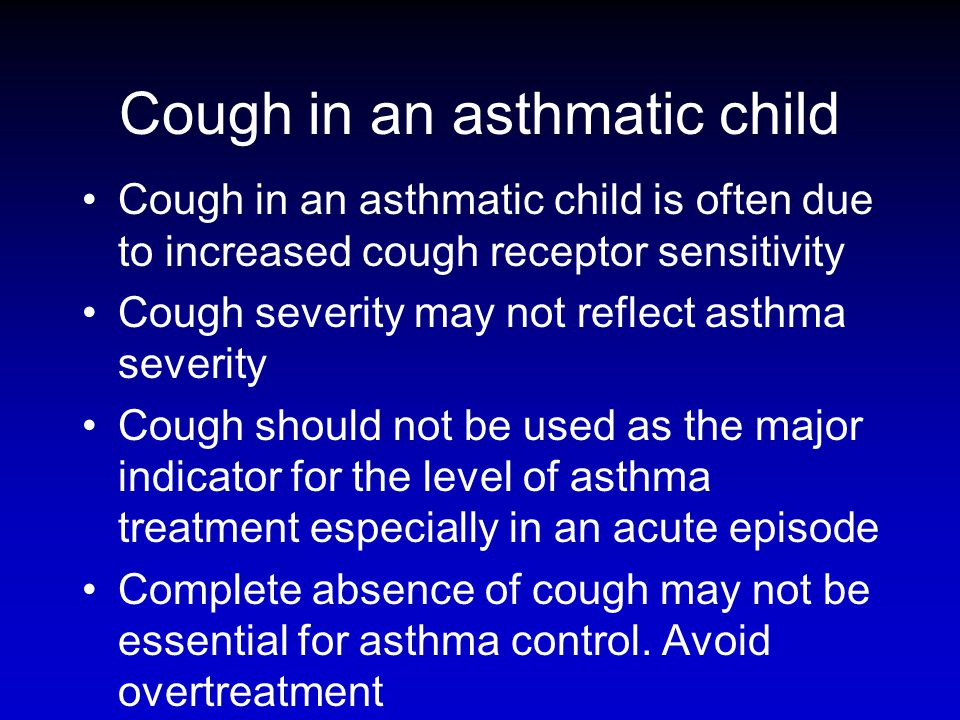 Cough in an asthmatic child