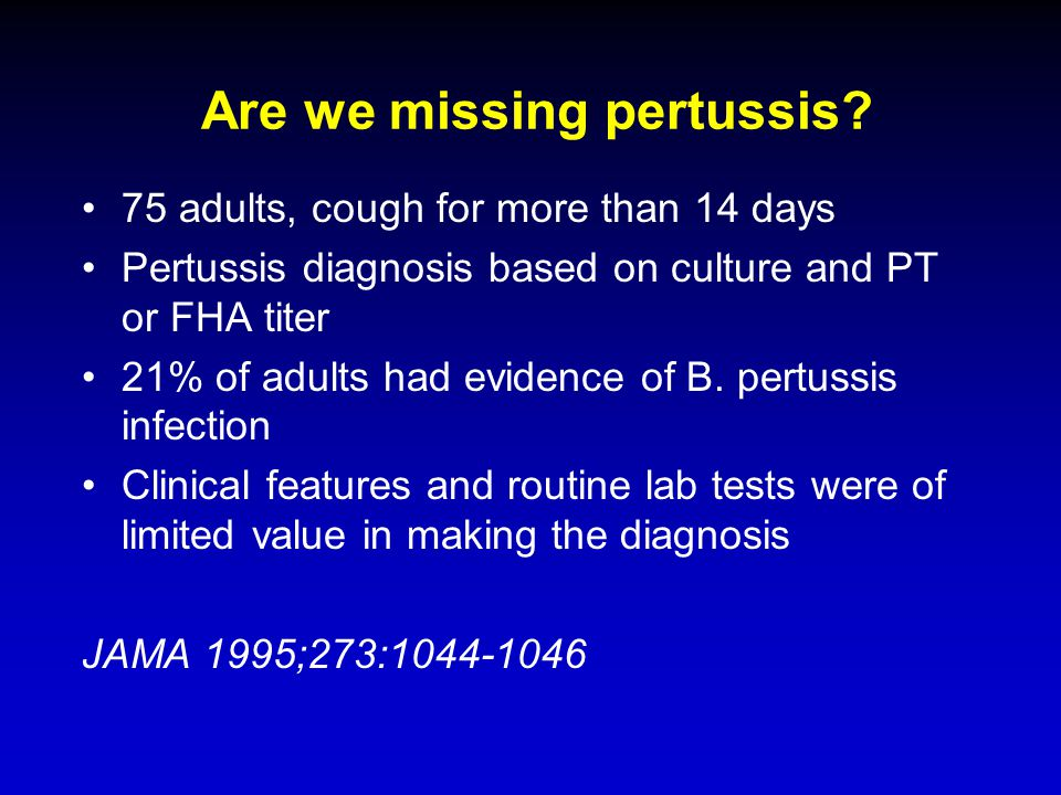 Are we missing pertussis