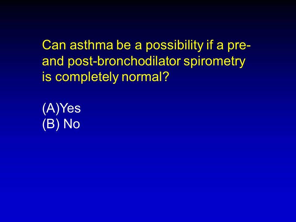Can asthma be a possibility if a pre-