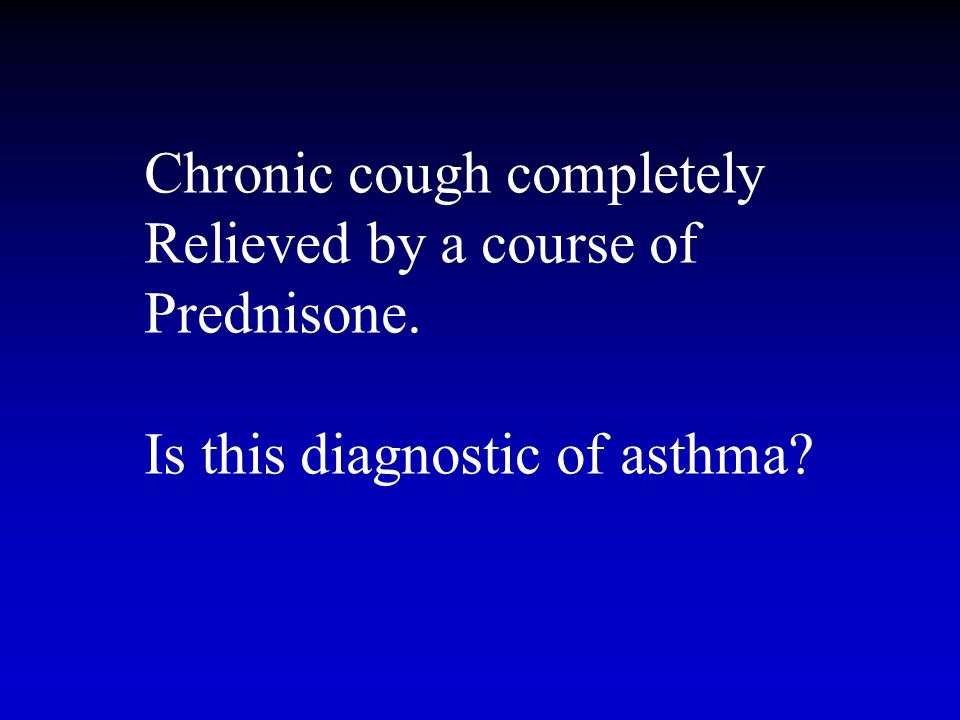 Chronic cough completely