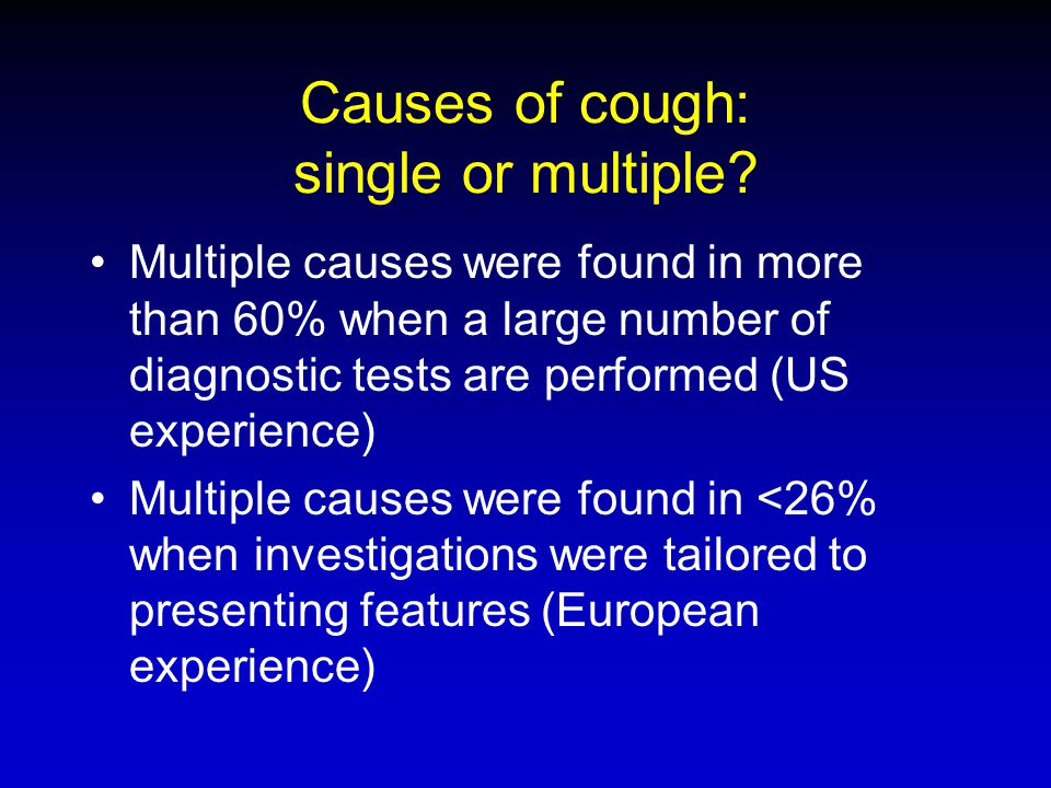 Causes of cough: single or multiple