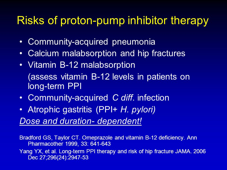 Risks of proton-pump inhibitor therapy