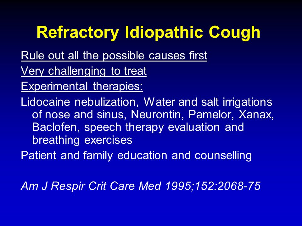 Refractory Idiopathic Cough