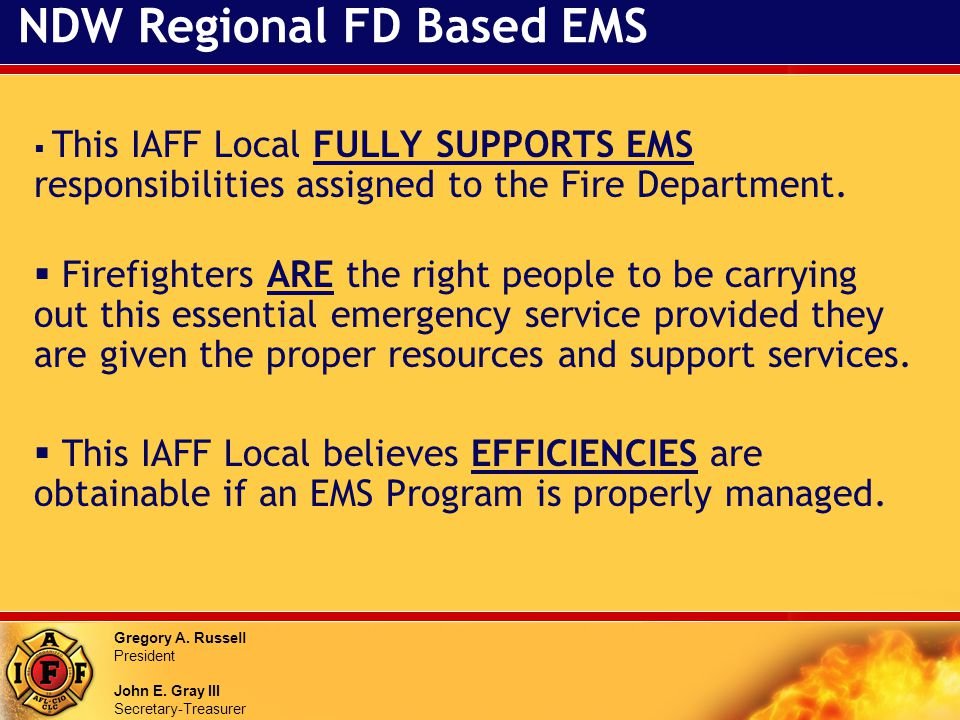 NDW Regional FD Based EMS