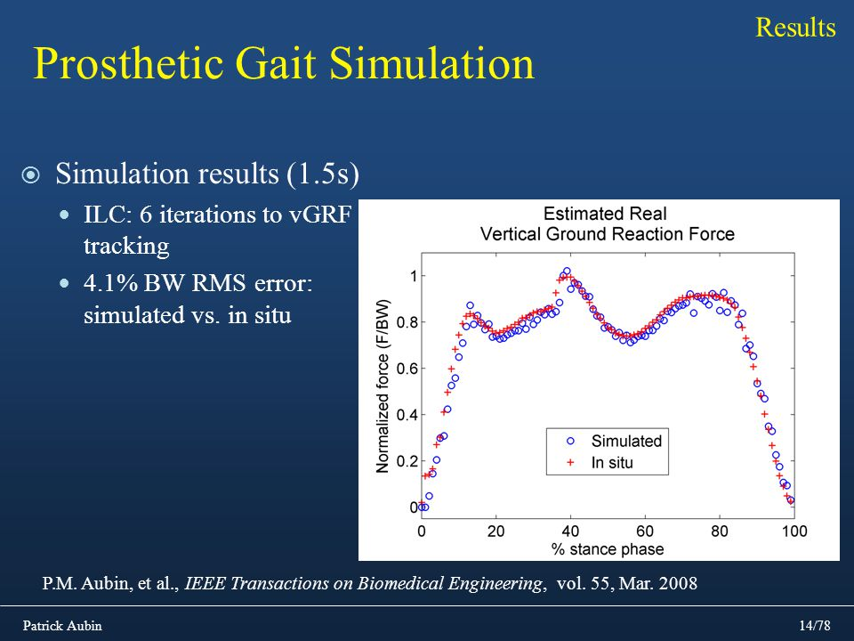 Prosthetic Gait Simulation