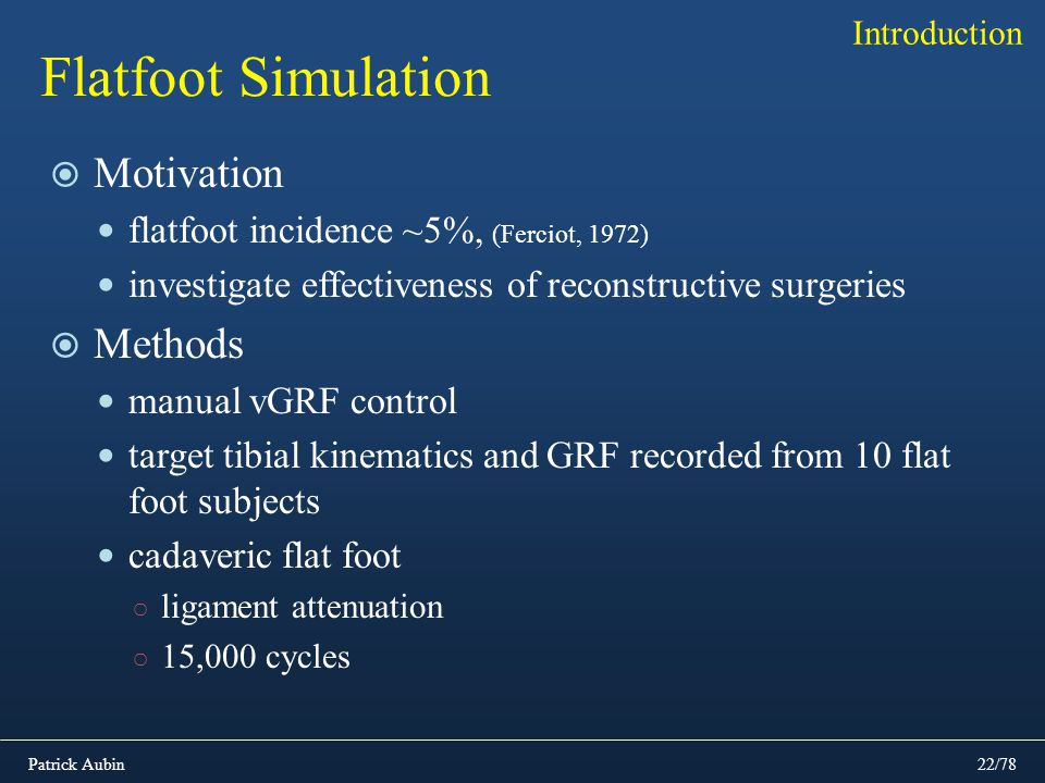 Flatfoot Simulation Motivation Methods