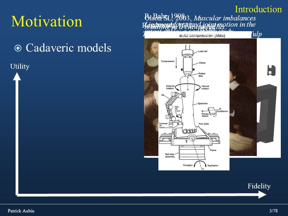 Motivation Cadaveric models Introduction RGS