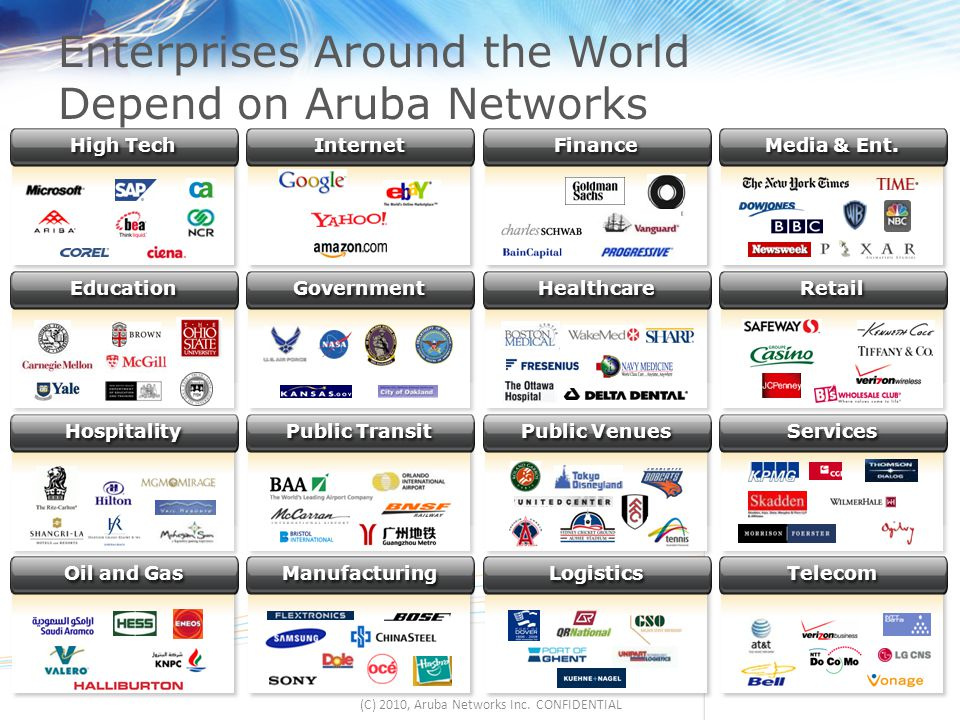 Enterprises Around the World Depend on Aruba Networks