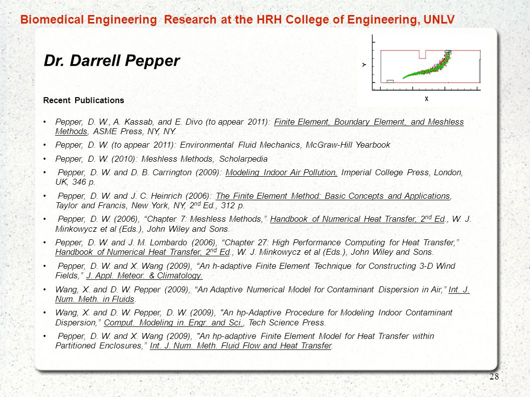 Biomedical Engineering Research at the HRH College of Engineering, UNLV