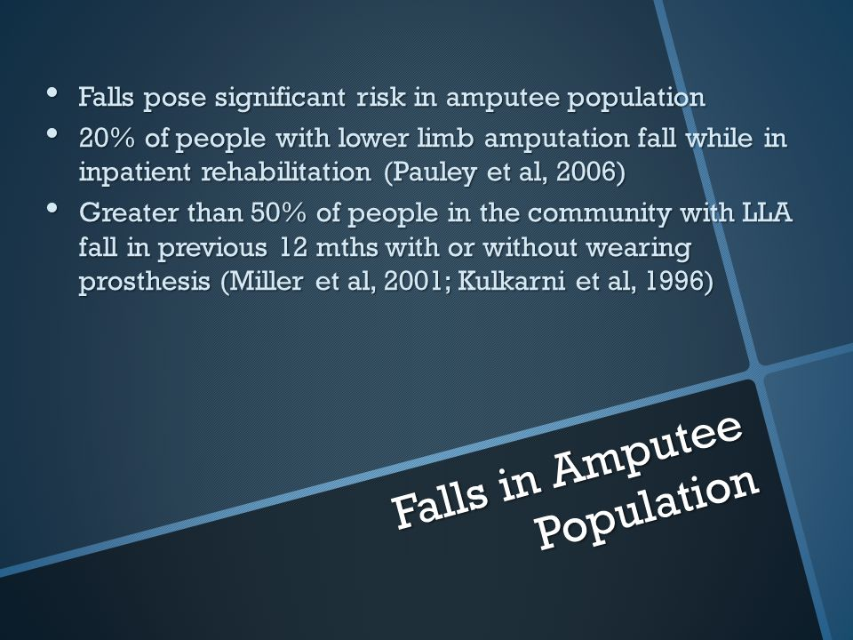Falls in Amputee Population