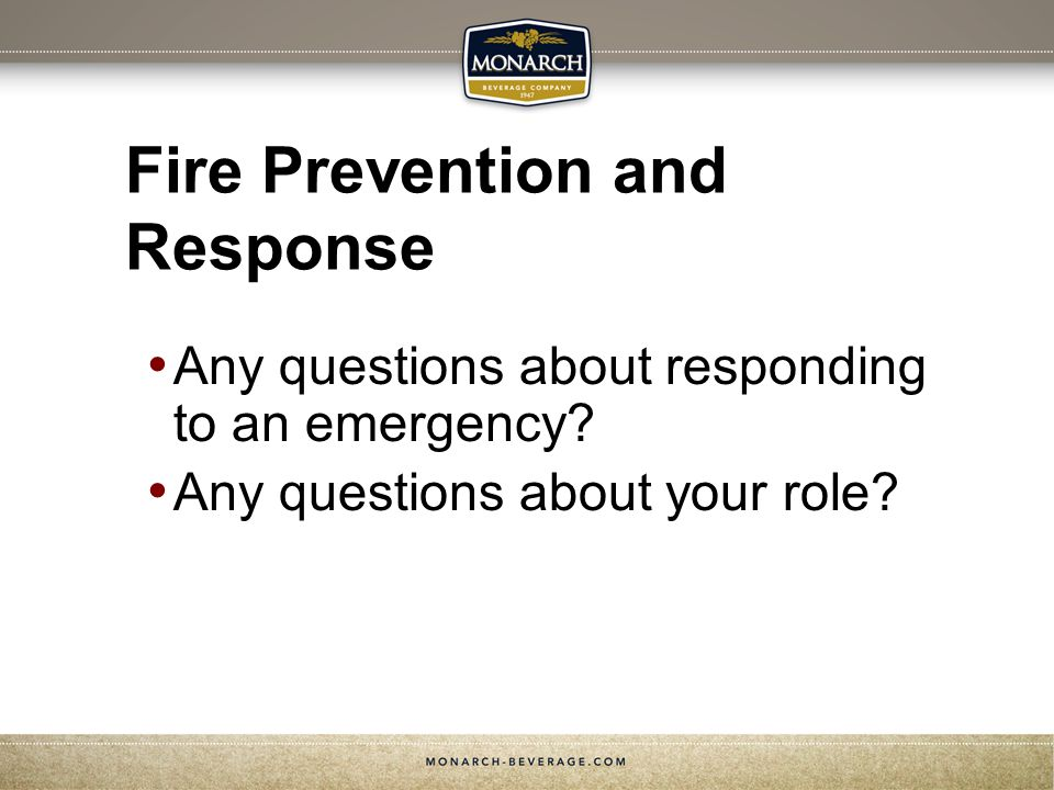 Fire Prevention and Response