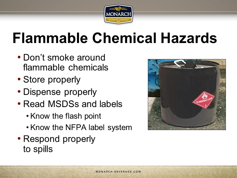 Flammable Chemical Hazards