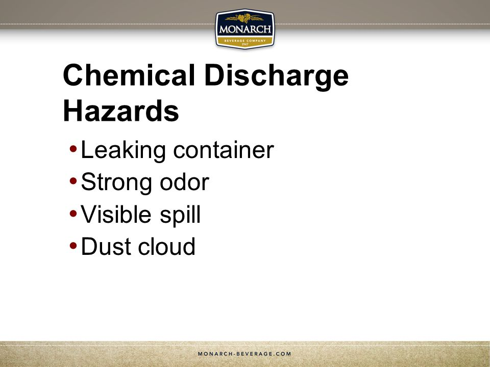 Chemical Discharge Hazards