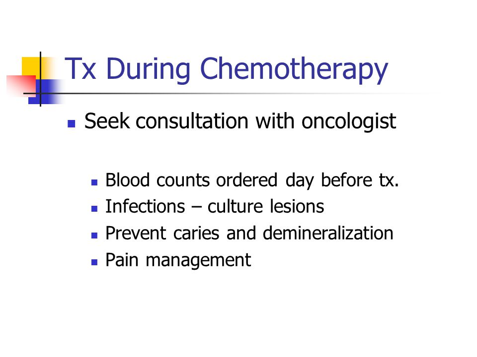Tx During Chemotherapy