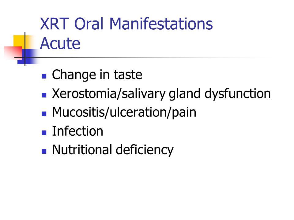 XRT Oral Manifestations Acute